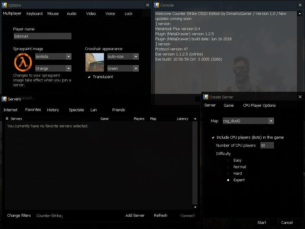 دانلود کانتر 1.6 مود CSGO
