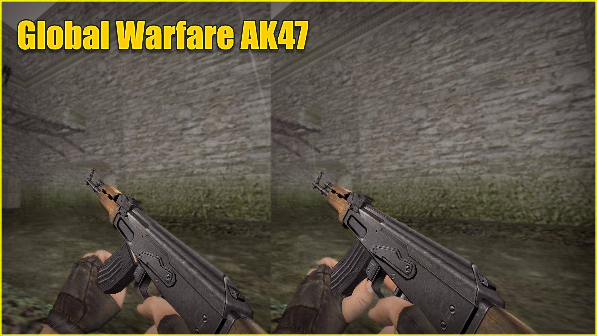 دانلود اسکین حرفه ای Ak47 | Golbal WarFar سی اس 1.6