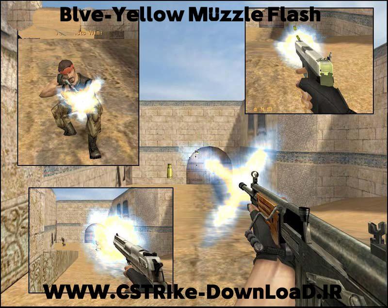 دانلود اسپرایت Blue-Yellow Muzzle Flash - کانتر 1.6