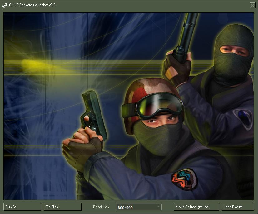 دانلود نرم افزار CS 1.6 Background maker