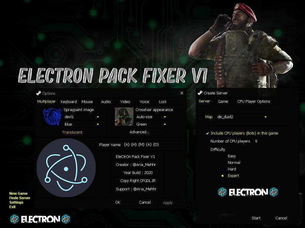 دانلود تنظیمات ظاهری حرفه ای اختصاصی ElecTron GUI V1 - کانتر 1.6