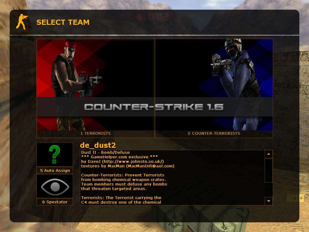 دانلود منو انتخاب تیم Taurus برای کانتر 1.6